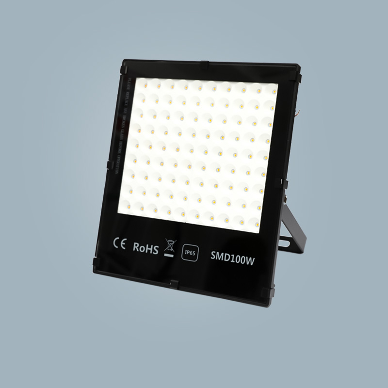 Flood light 100w black