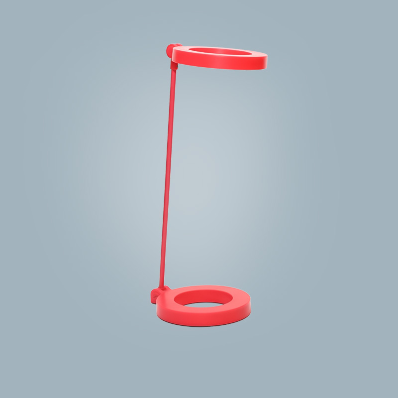 LED desk reading lamp round red