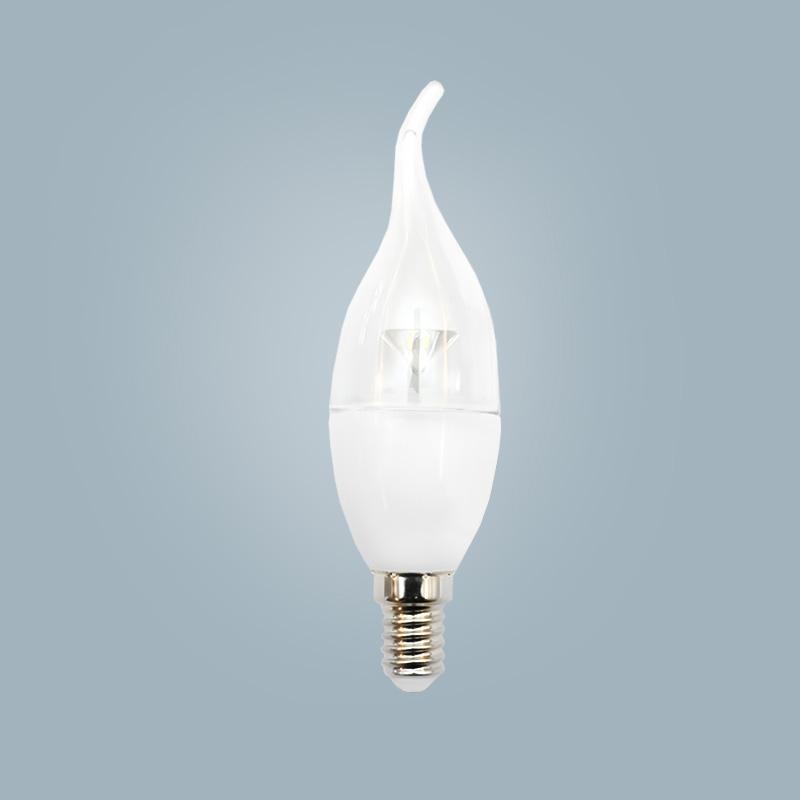 The latest LED candle shape lamp warm white