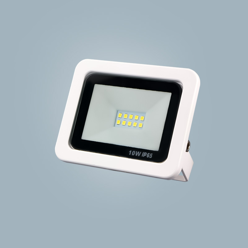 Economical waterproof aluminum outdoor floodlight 10w white